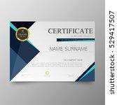certificate template awards... | Shutterstock .eps vector #529417507