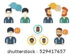 two young businessmen... | Shutterstock .eps vector #529417657
