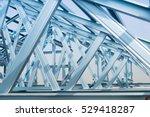 structure of steel roof frame... | Shutterstock . vector #529418287