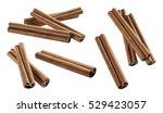 cinnamon sticks set 2 isolated... | Shutterstock . vector #529423057