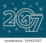 happy new year 2017 text design ... | Shutterstock .eps vector #529427557