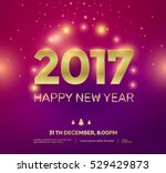 2017 happy new year background... | Shutterstock .eps vector #529429873