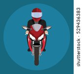 man in a helmet riding... | Shutterstock .eps vector #529436383