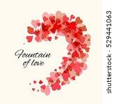 valentine day  beautiful...   Shutterstock .eps vector #529441063