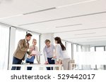 team of business people having... | Shutterstock . vector #529442017