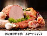 assorted meat products... | Shutterstock . vector #529443103