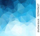blue polygonal mosaic... | Shutterstock .eps vector #529445617