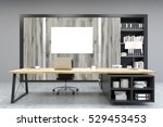 front view of a ceo office with ... | Shutterstock . vector #529453453