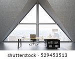 front view of a ceo office with ... | Shutterstock . vector #529453513