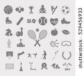 sport set vector icon   Shutterstock .eps vector #529456933