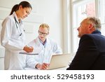 doctors and patient talking... | Shutterstock . vector #529458193