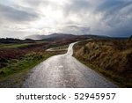 Road On The Isle Of Islay ...