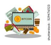 Bitcoins Concept. Laptop ...