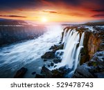 rapid flow of water powerful... | Shutterstock . vector #529478743