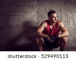 muscular young athletic built... | Shutterstock . vector #529490113