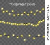 glowing lights. christmas... | Shutterstock .eps vector #529491763