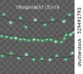 christmas lights. glowing...   Shutterstock .eps vector #529491793