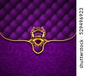 elegant golden shield with gold ... | Shutterstock .eps vector #529496923