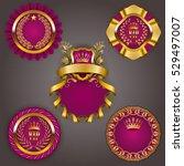 set of elegant templates for... | Shutterstock .eps vector #529497007