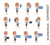 set of smart and cute character ...   Shutterstock .eps vector #529498507
