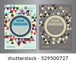 set a5  a4 business brochure... | Shutterstock .eps vector #529500727