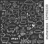 hand drawn vector set of... | Shutterstock .eps vector #529502233