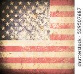 grunge usa flag | Shutterstock . vector #529507687