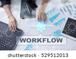 woman is working with documents ... | Shutterstock . vector #529512013