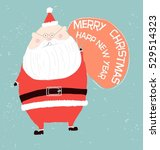 santa claus with merry... | Shutterstock .eps vector #529514323