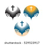 crucifix symbol. crucifixion of ... | Shutterstock .eps vector #529523917