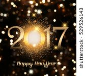 decorative happy new year... | Shutterstock . vector #529526143