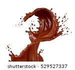 splash chocolate. 3d... | Shutterstock . vector #529527337
