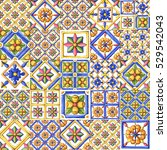 ornaments on the tiles ... | Shutterstock . vector #529542043