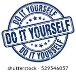 do it yourself. stamp. blue... | Shutterstock .eps vector #529546057