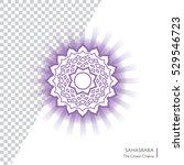 sahasrara. chakra vector... | Shutterstock .eps vector #529546723