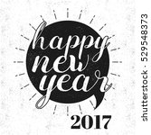 happy new year and merry... | Shutterstock .eps vector #529548373