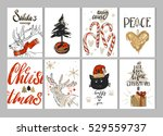 hand drawn vector merry... | Shutterstock .eps vector #529559737