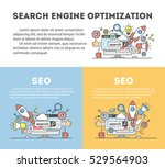 concept seo optimization in... | Shutterstock .eps vector #529564903