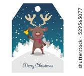 reindeer with bell tag | Shutterstock .eps vector #529565077