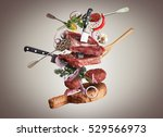 meat and beef meatballs with... | Shutterstock . vector #529566973