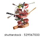 meat and beef meatballs with... | Shutterstock . vector #529567033