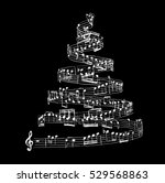 christmas tree from music notes | Shutterstock .eps vector #529568863