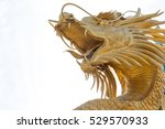 Chinese Golden Dragon Statue I...