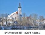 Small photo of Church of Bad Koetzting at River Weisser Regen in bavarian Forest,Bavaria,Germany
