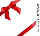 decorative red bow two diagonal ... | Shutterstock .eps vector #529580407
