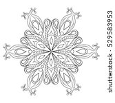 Zentangle Elegant Snow Flake....