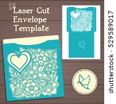 lasercut vector wedding... | Shutterstock .eps vector #529589017