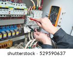electrician measurements with... | Shutterstock . vector #529590637