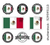 vector set of made in the... | Shutterstock .eps vector #529595113