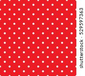 seamless small red polka dot... | Shutterstock .eps vector #529597363